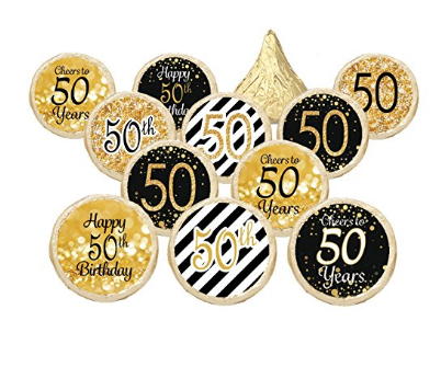 50th Birthday Party Decorations Gold Black