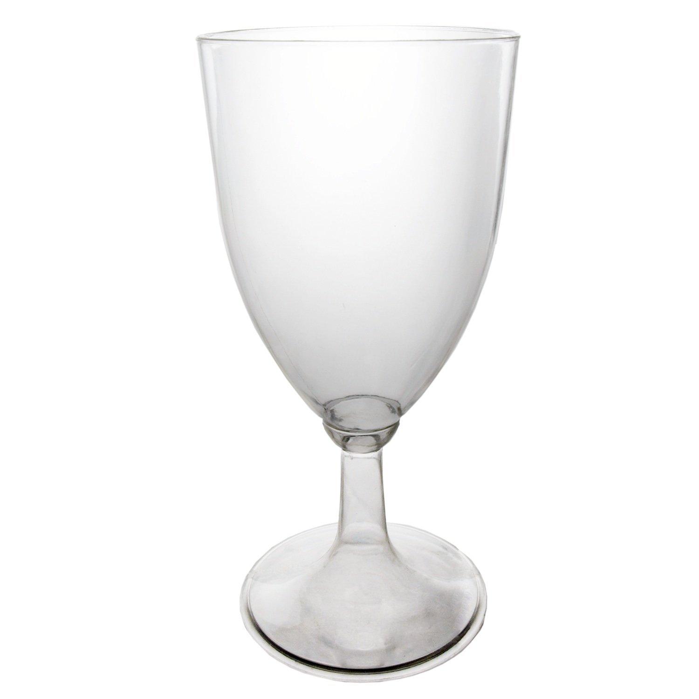 Oz  Piece Disposable Plastic Wine Glasses