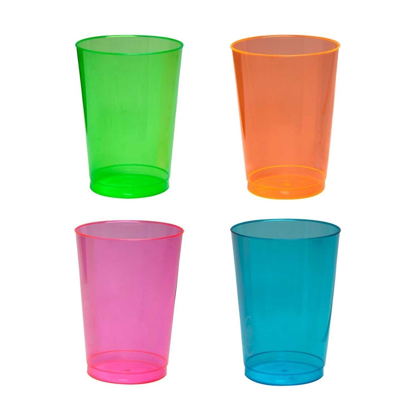 Party Essentials Hard Plastic 10-Ounce Party Cups/Tumblers ...