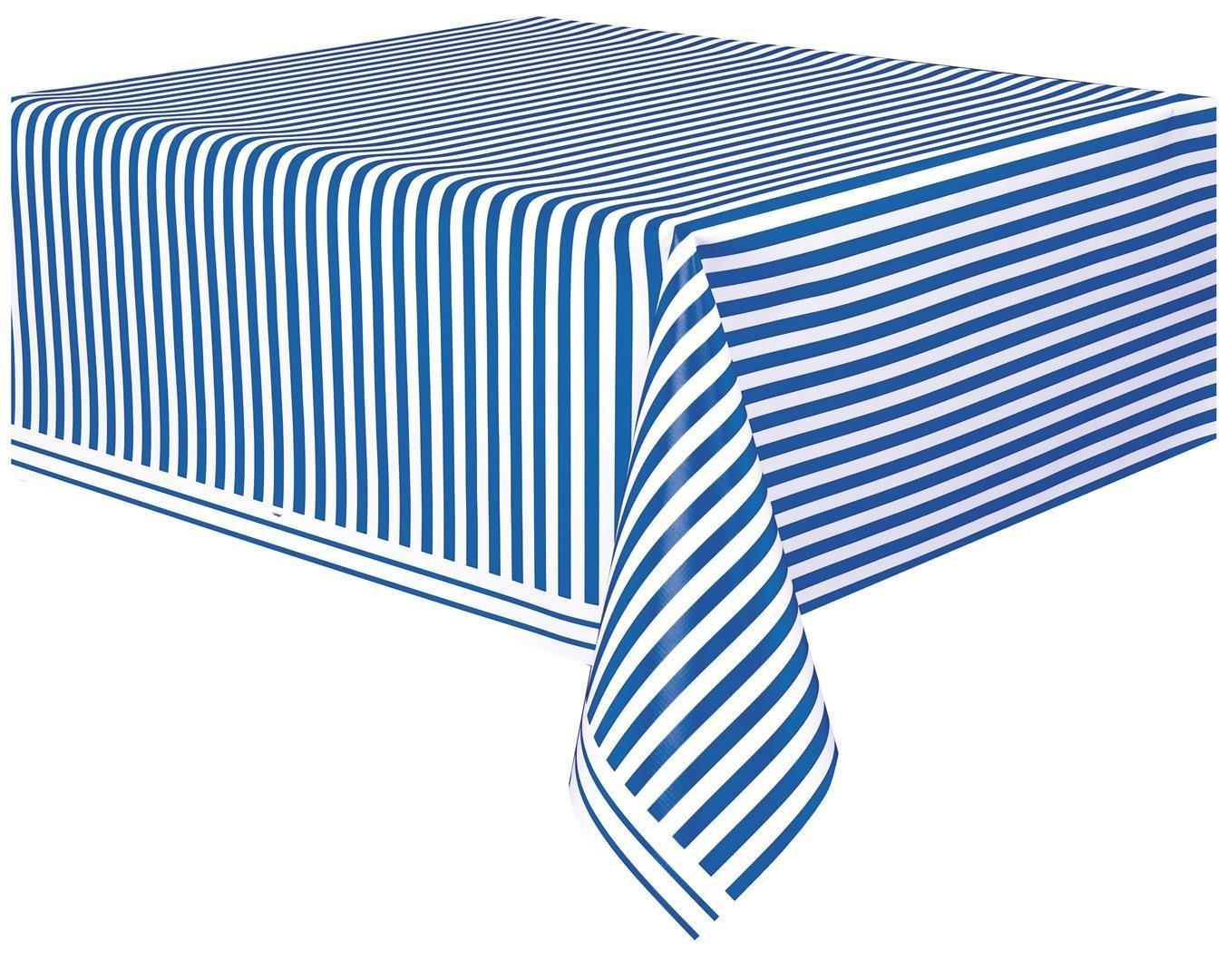 Striped Plastic Tablecloth ...