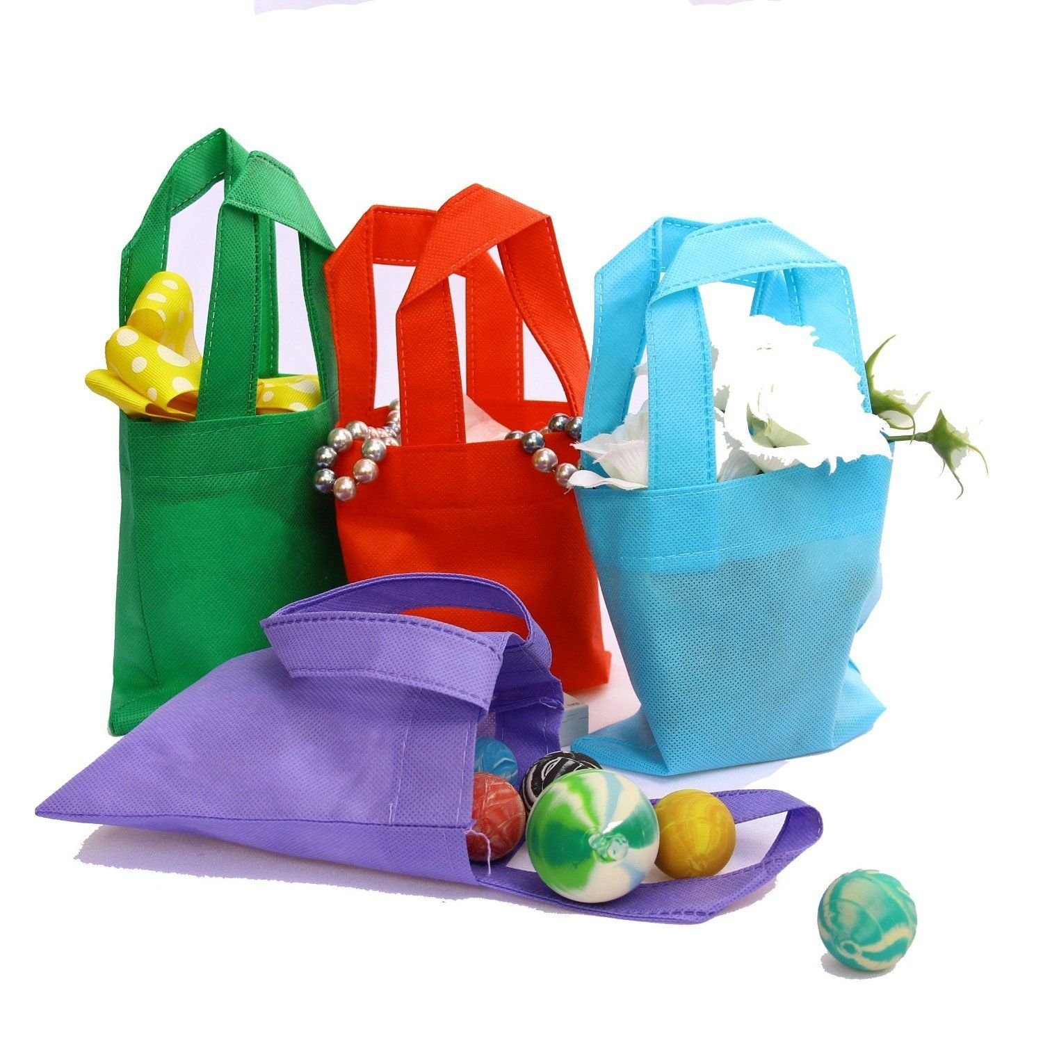 Gift Bag Toys : Party favor tote gift bags with handles polyester non