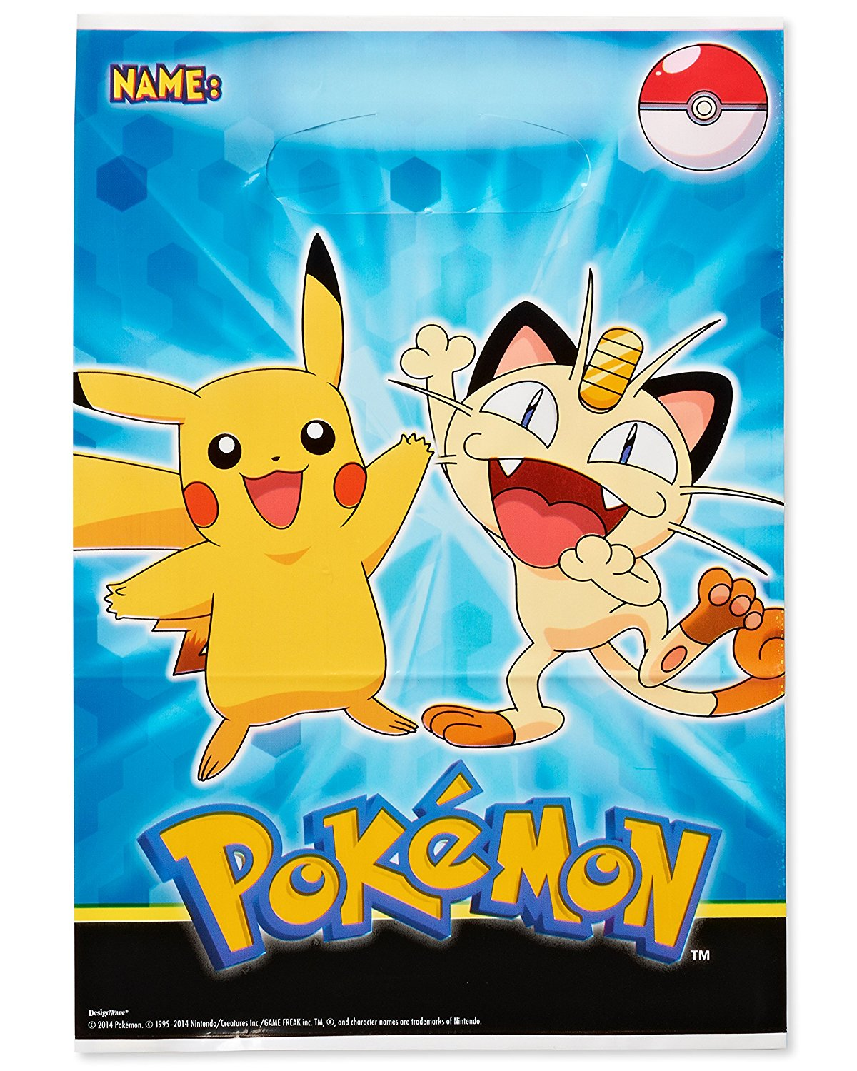 American Greetings Pokemon Treat Bags 8 Count Party Supply Factory