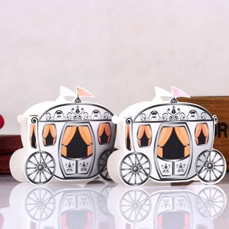 fbb3c8a3901b Adorox Candy Carriage Wedding Bridal Shower Gift Box Party Favor Decoration  (Gold (12 Pieces) ...