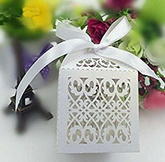 Details about  /Floral Laser Cut Paper Party Sweet Wedding Favor Candy Gift Boxes Ribbon 8970