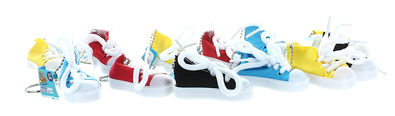 8009eb91cd2d Lot of 12 Canvas Sneaker Chucks Tennis Shoe Key Chain Party Favors KC367