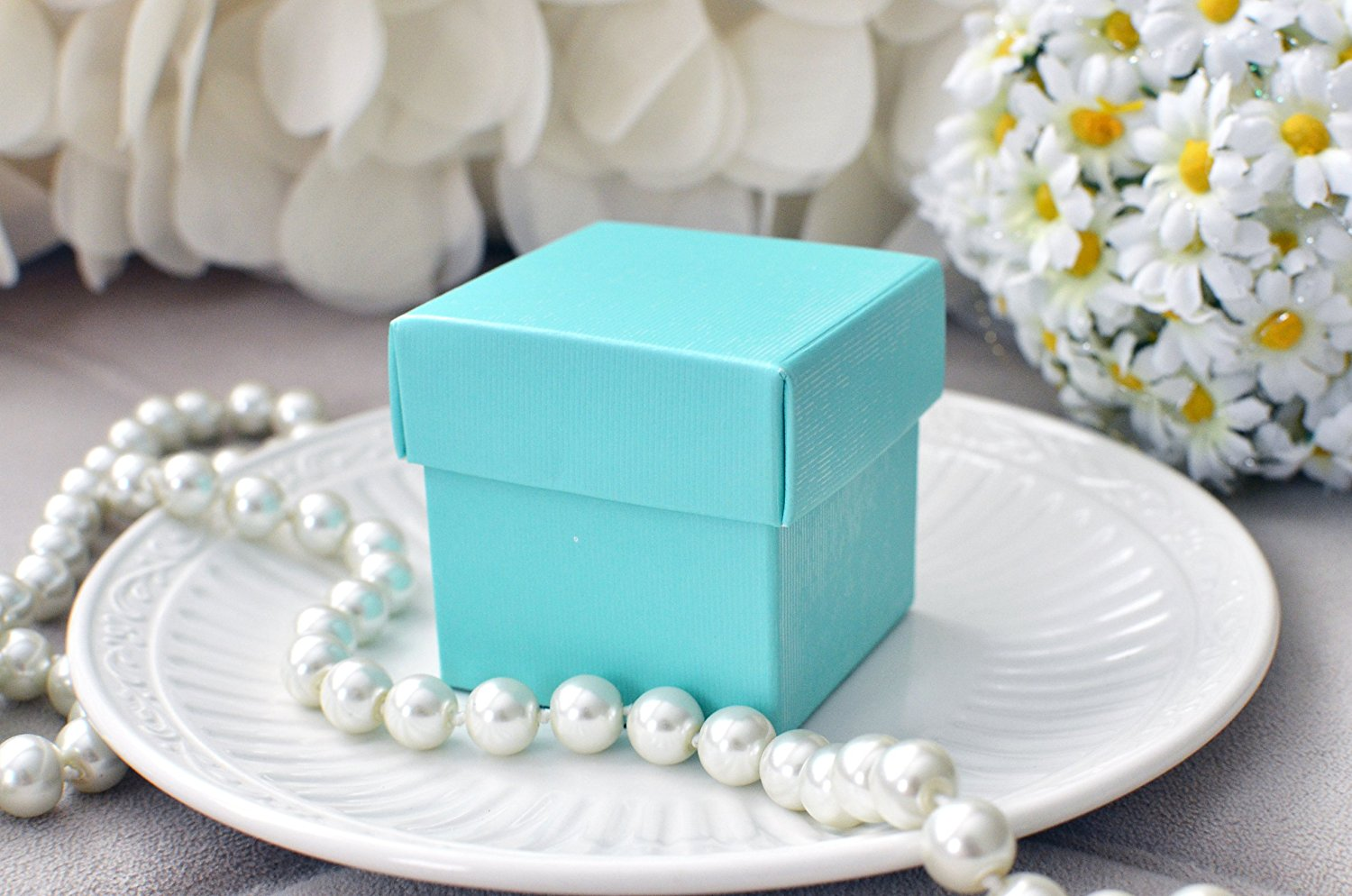 Celebrate It Occasions Favor Boxes With Lids Instructions : Mini square x wedding bridal shower favor box with lid