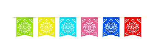 12 Foot Long Rainbow Multicolored Flag Mexican Sun Del Sol Design Plastic Garland Drop Banner for Party Decorations, Birthdays, Event Supplies, Fiesta Festivals, Children & Adults by Super Z Outlet – Party