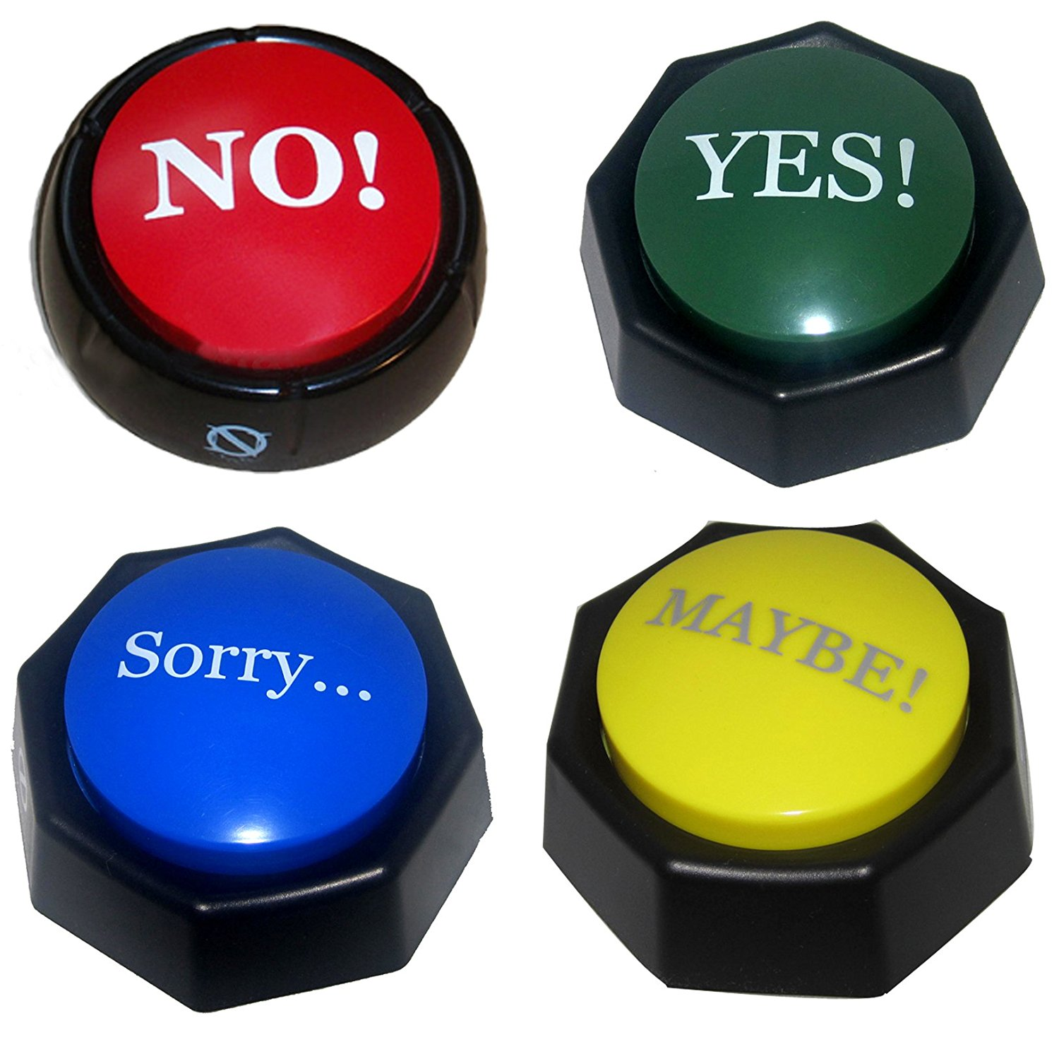 4 Total Buttons! The NO, YES, SORRY and MAYBE Buttons ...
