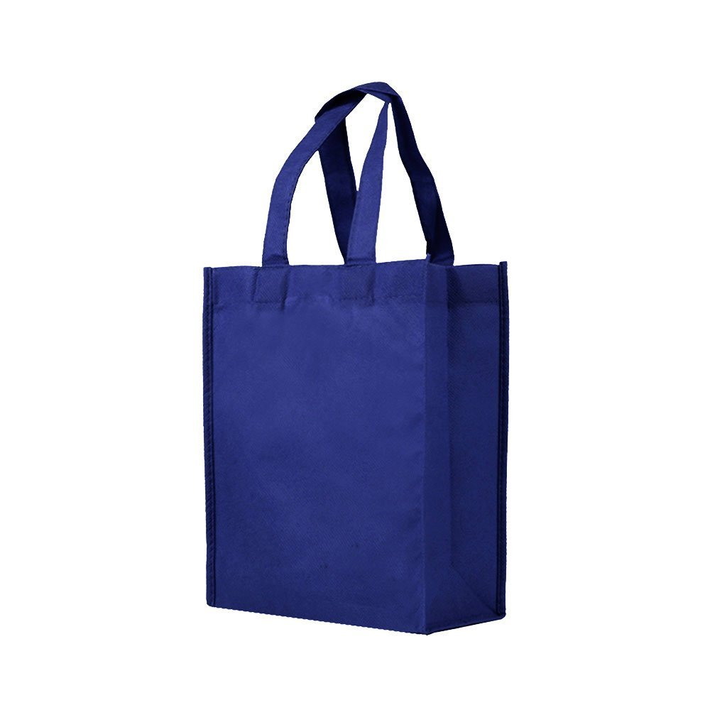 Reusable Gift Party Lunch Tote Bags 25 Pack Navy