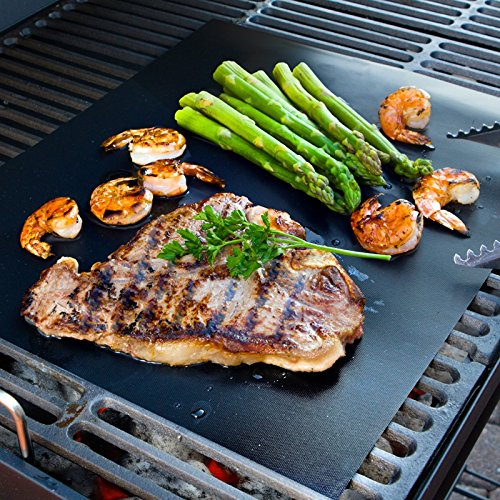 Aura Bbq Grill Mat Large 17 X 14 Inches Set Of 2 Multipurpose Can Be Used For Baking And On Ovens Reusable Non Stick