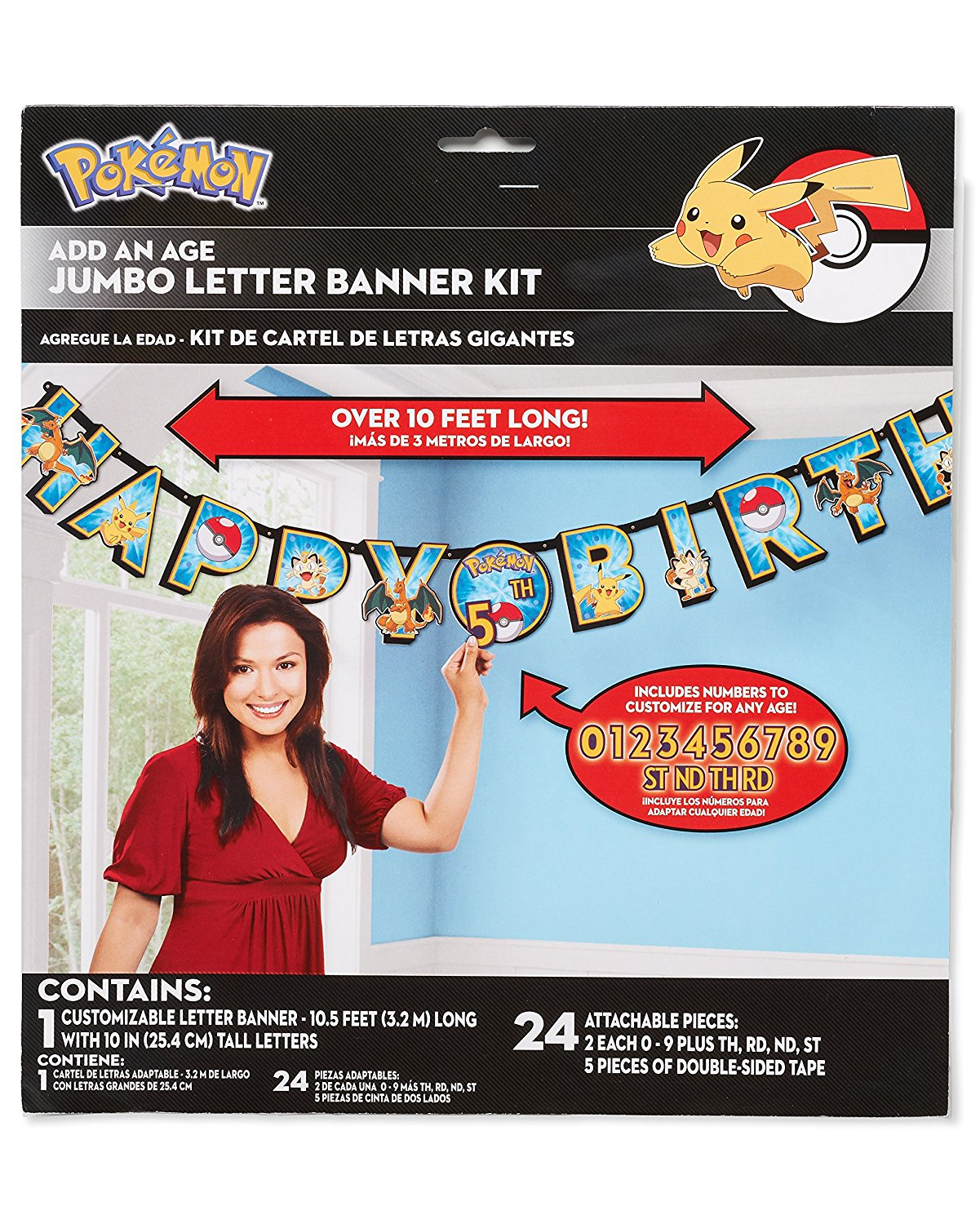 American greetings pokemon add an age birthday party banner american greetings kristyandbryce Image collections