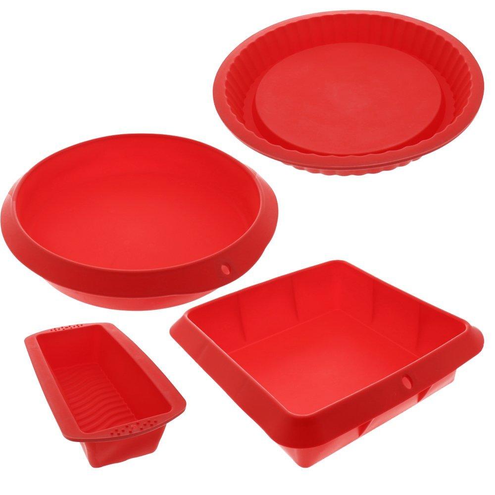 Bakeware Set Baking Molds 4 Nonstick Silicone Bakeware