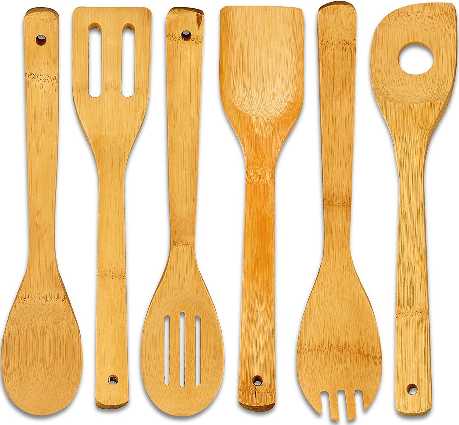 Bamboo Cooking Utensil-Set (6-Pieces) – Utopia Kitchen ...