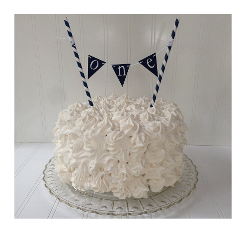 Birthday Cake Topper One Birthday Banner Hello Sailor Navy Blue Banner By Piece Of Cake Parties