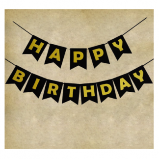 Youre Viewing Black Happy Birthday Decorations Party Bunting Banner With Gold Letters 21st 40th 50th 1799 1299
