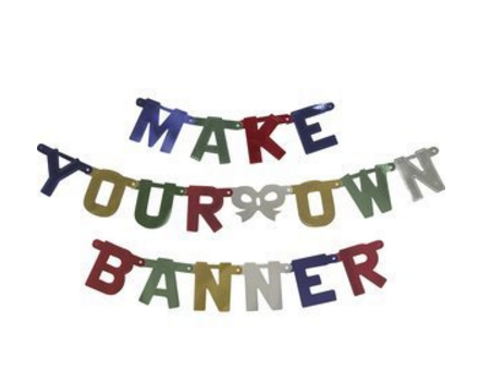 Build A Banner Make Your Own Banner Kit Party Supply