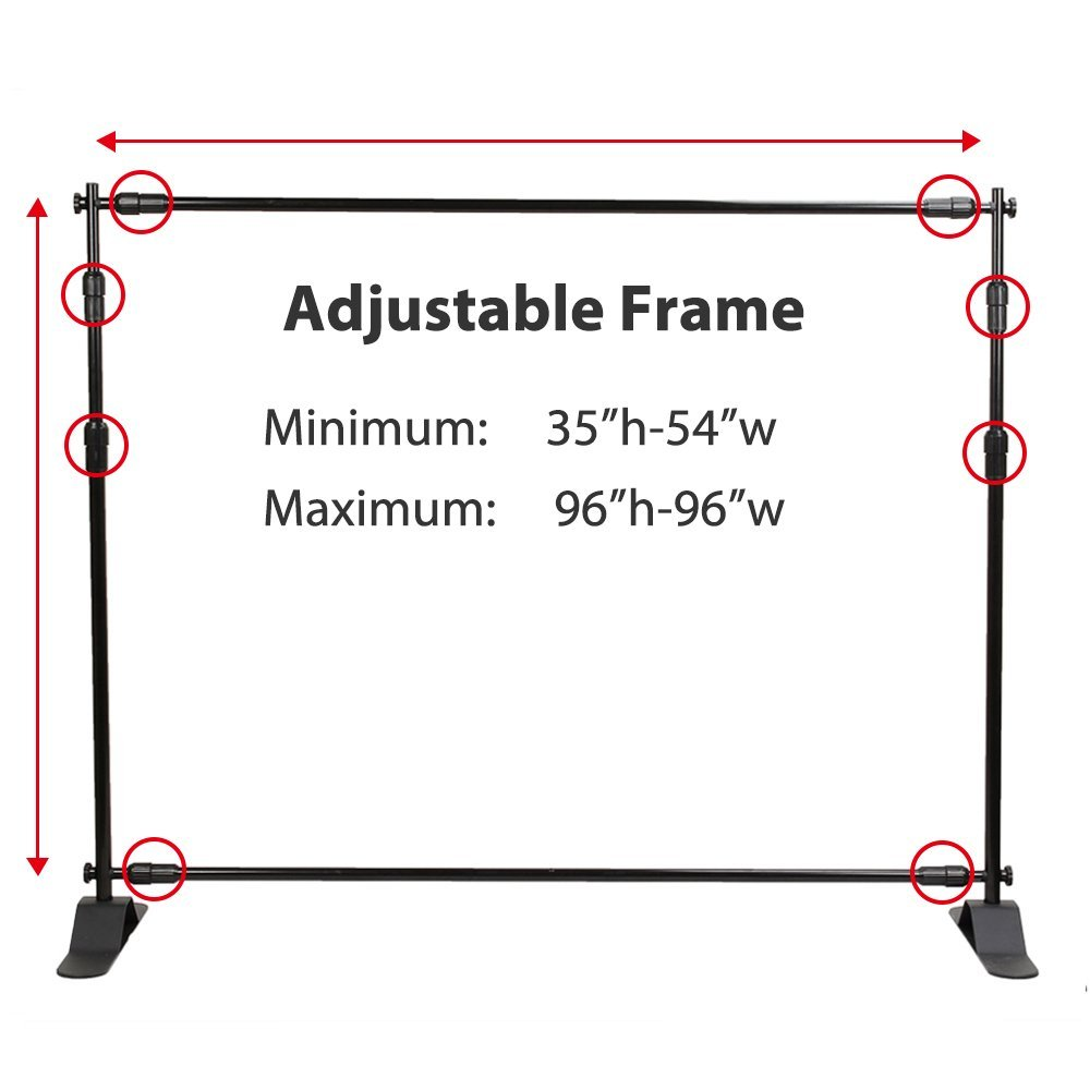 Flexzion Backdrop Stand Telescopic Banner Stand 8 X8