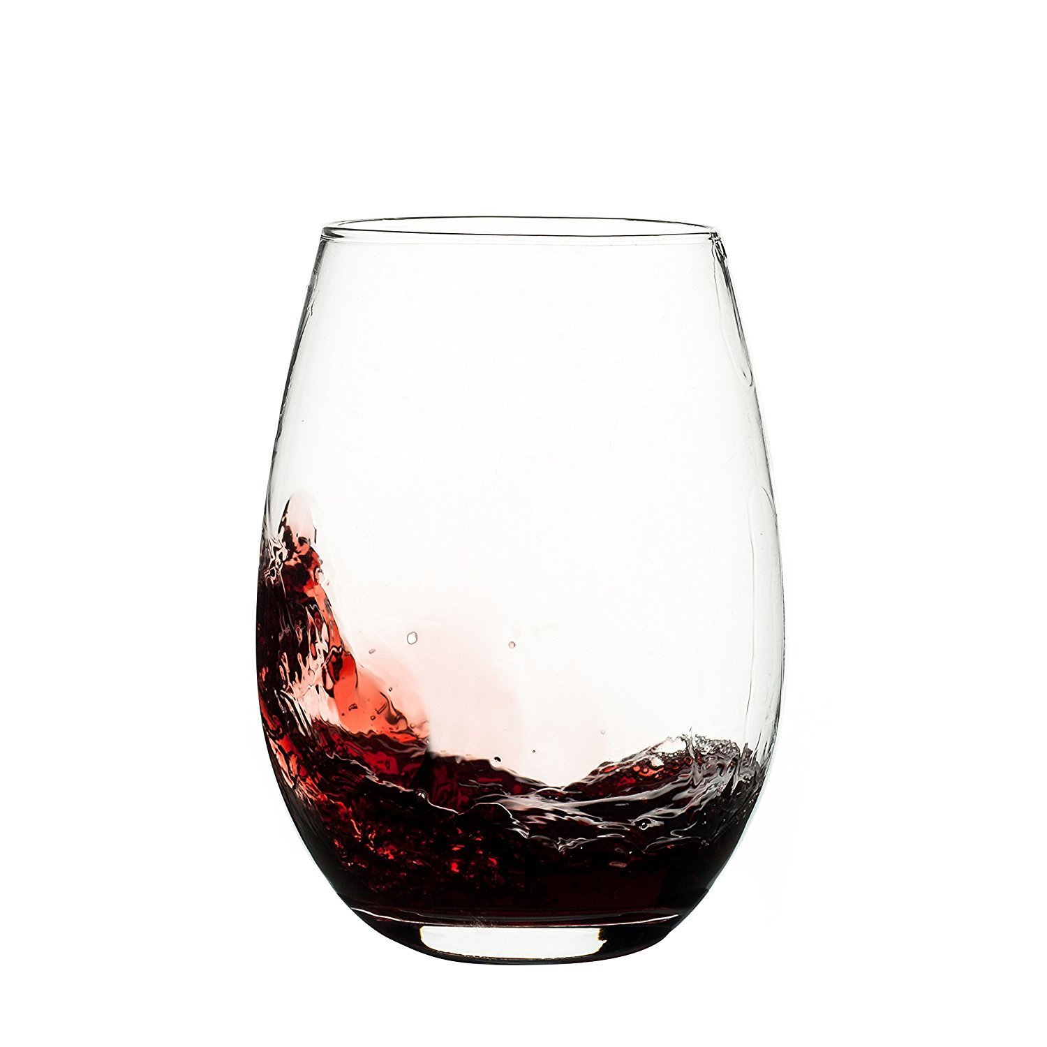 Franmara unbreakable plastic stemless wine glass 20 oz for Thin stem wine glasses