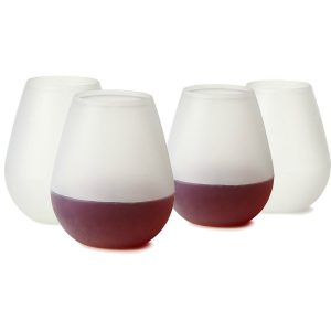 freshlove silicone wine glasses 12oz the unbreakable wine walker flexible plastic stemless cups u2013 best for pool or bbq u2013 u0026 reusable u2013 makes - Plastic Stemless Wine Glasses