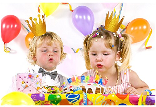 Gold Birthday Crown Hats 12pcs Party Hat Decorations Crowns