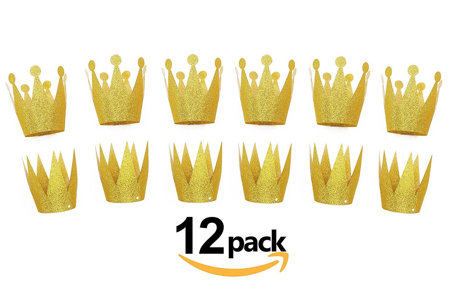 gold birthday crown hats 12pcs party hat party decorations crowns