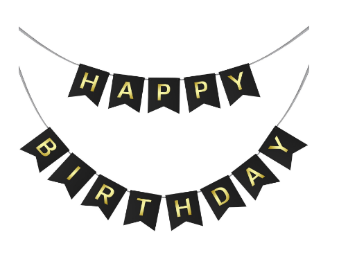 Happy Birthday Swallowtail Bunting Banner For Party
