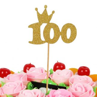 Youre Viewing LOVELY BITONTM Gold 100 Days Cake Topper Banner For Parties Baby Happy Birthday 1299 799