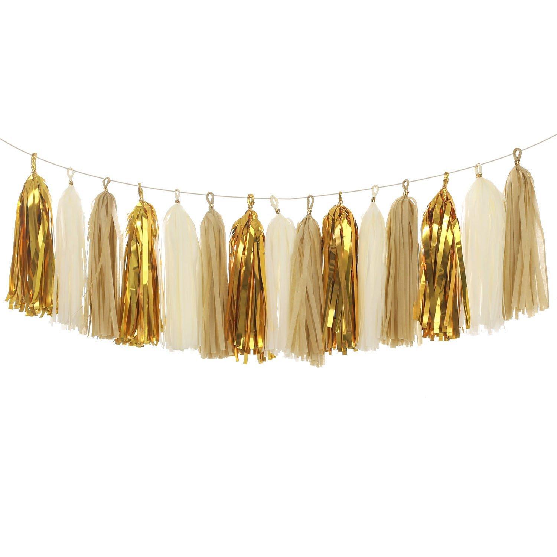 Ling\'s moment Tassel Garland, Tissue Paper Tassels for Wedding, Baby ...