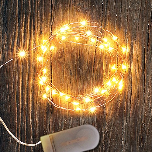 6PCS 7.2Ft Copper Wire Lights Battery Operated With 20LEDs Warm ...