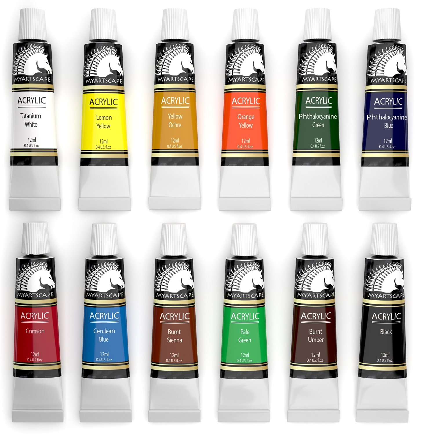 Acrylic Paint Set Artist Quality Paints For Painting Canvas Wood