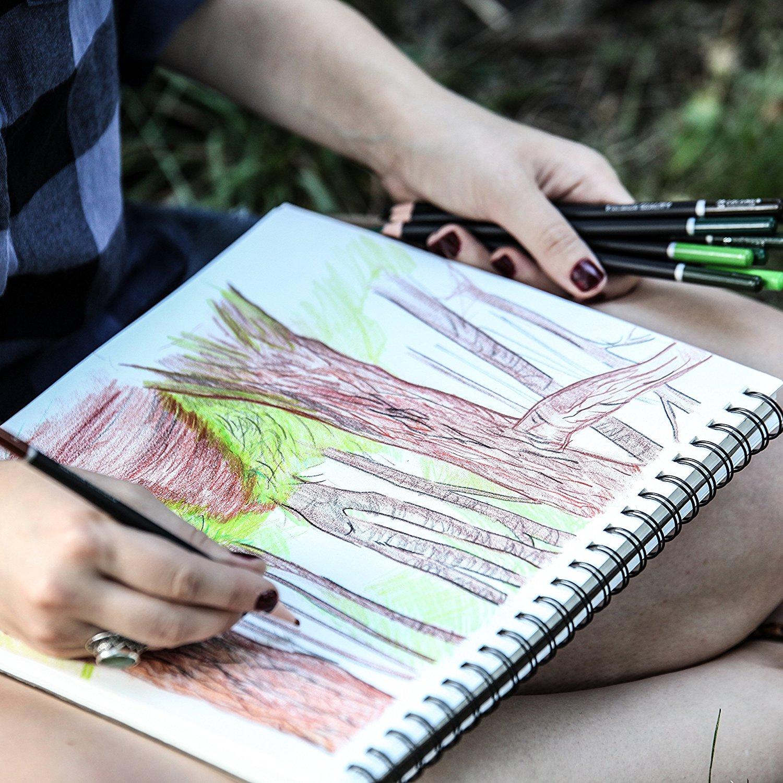 Colore Colored Pencils 72 Premium Pre Sharpened Color Pencil Set - Premium-color-pencils