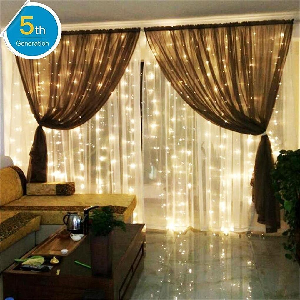 Amars Safe Voltage Bedroom String Led Curtain Lights Waterfall Window Outdoor