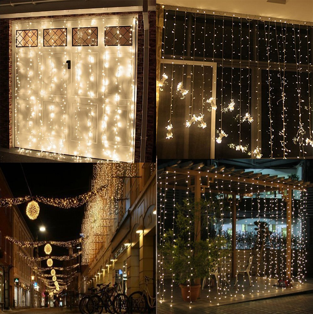 String Lights Indoor Bedroom : AMARS Safe Voltage Bedroom String LED Curtain Lights Waterfall Window Lights Outdoor Indoor LED ...