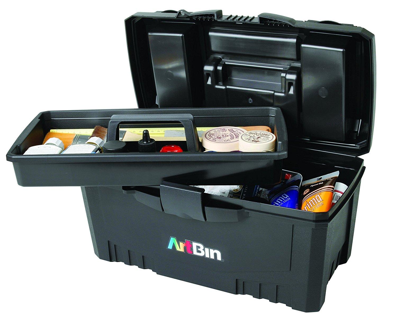 Merveilleux ArtBin 17 Inch Twin Top Tool Box  Black Art Supply Storage ...