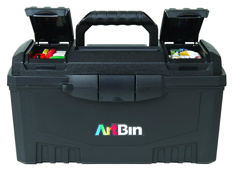 Artbin 17 Inch Twin Top Tool Box Black Art Supply Storage