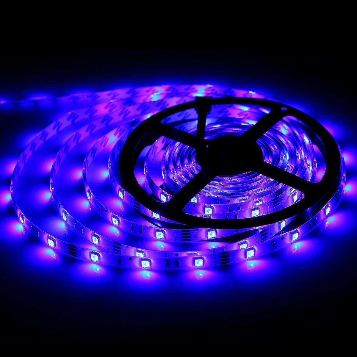 bmouo 2 reels 12v waterproof flexible rgb led strip light kit multi colored smd5050 300. Black Bedroom Furniture Sets. Home Design Ideas