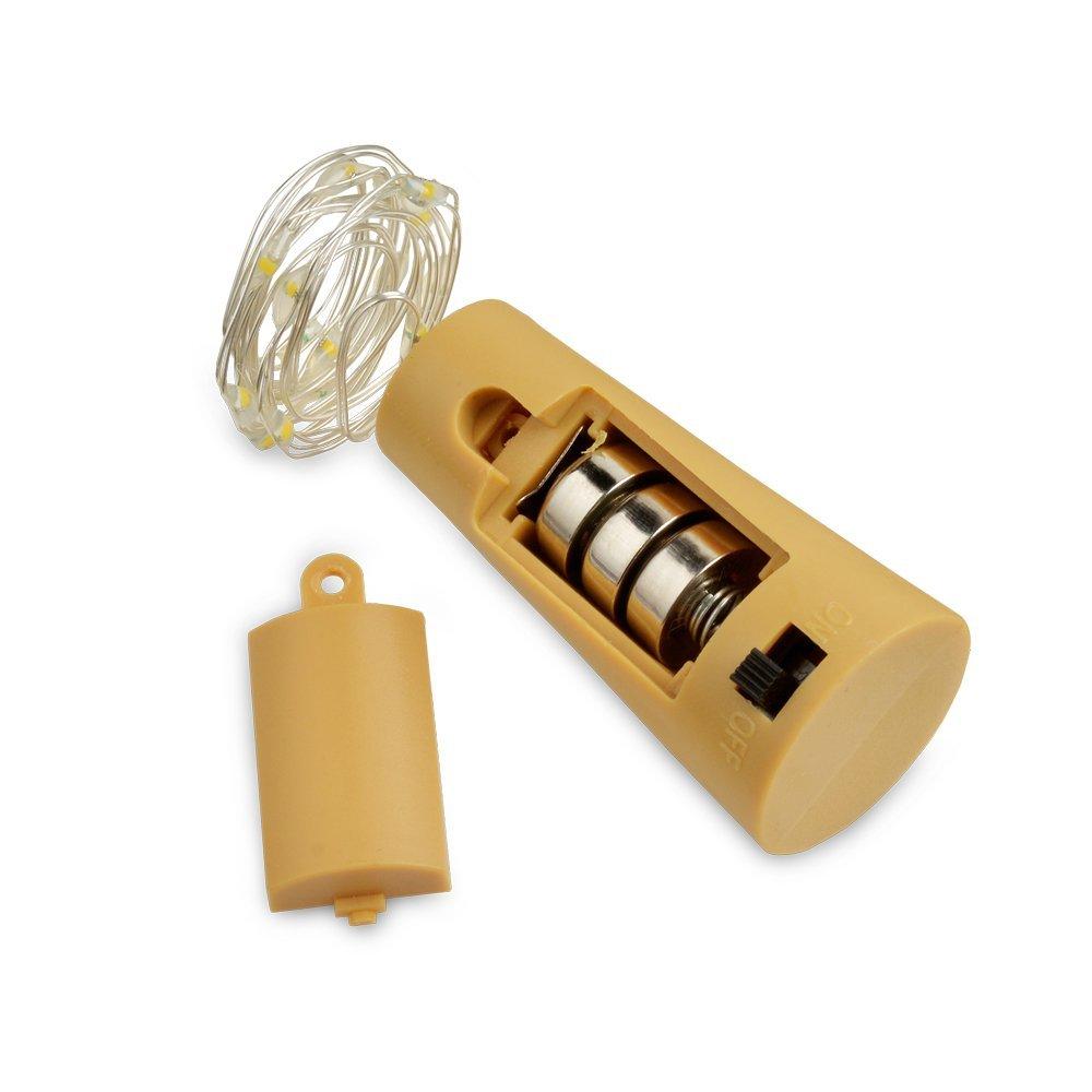 Cork Lights for Wine Bottles 6 Pack, Bizoerade 30inch/ 75cm 15 LED Copper Wire Lights String ...