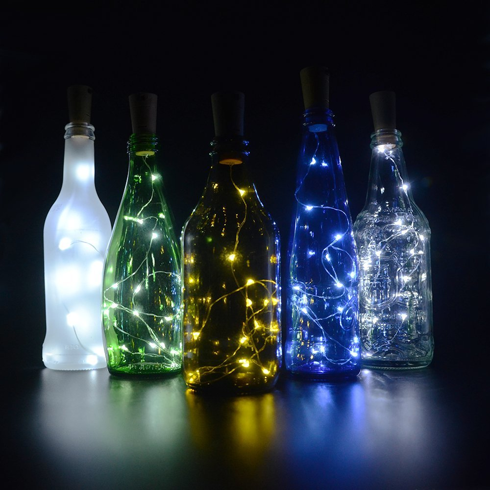 String Lights Wedding Diy : Cork Lights for Wine Bottles 6 Pack, Bizoerade 30inch/ 75cm 15 LED Copper Wire Lights String ...
