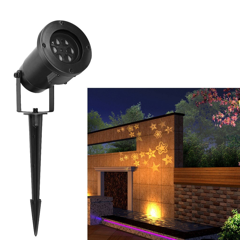 Excelvan Led Landscape Projector Light Decoration With Stereo Star Moves Automatically For Indoor Outdoor Garden Wall Party Christmas Day Warm