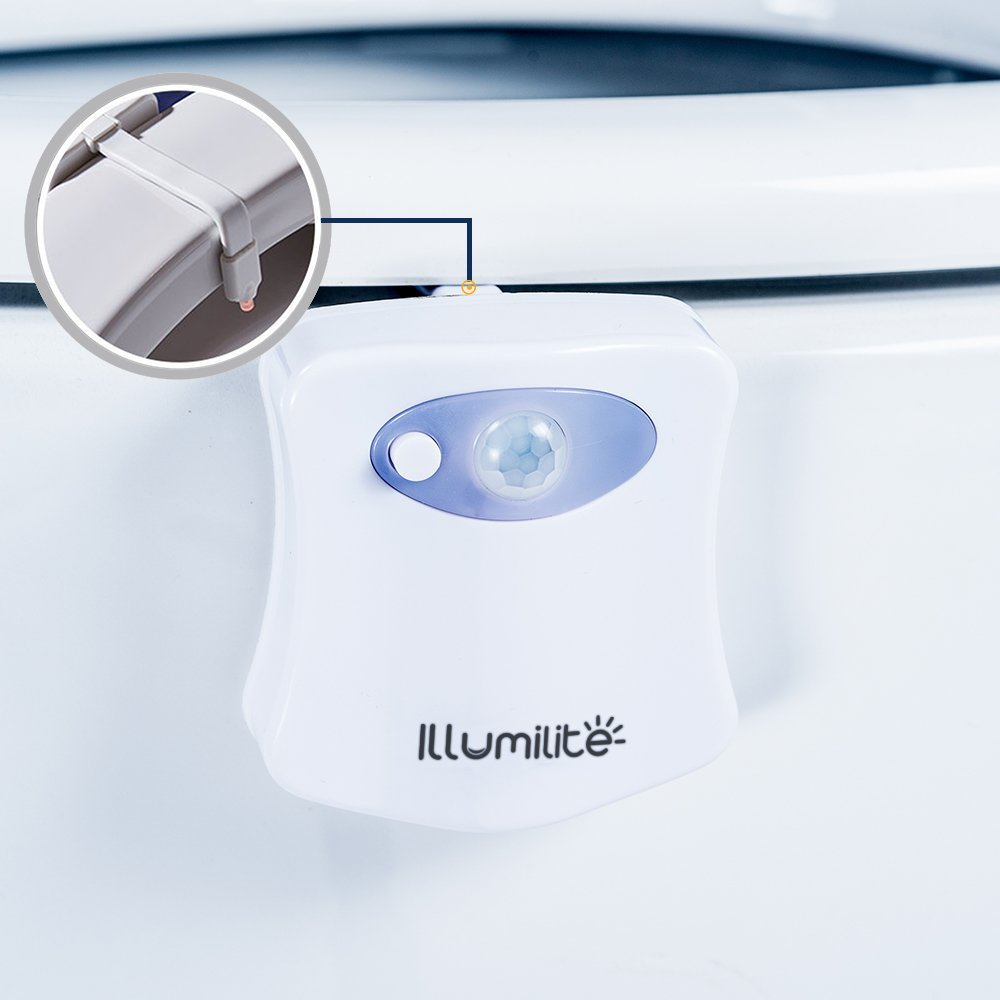 Illumilite Toilet Seat Lights With 8 Color Changes Led
