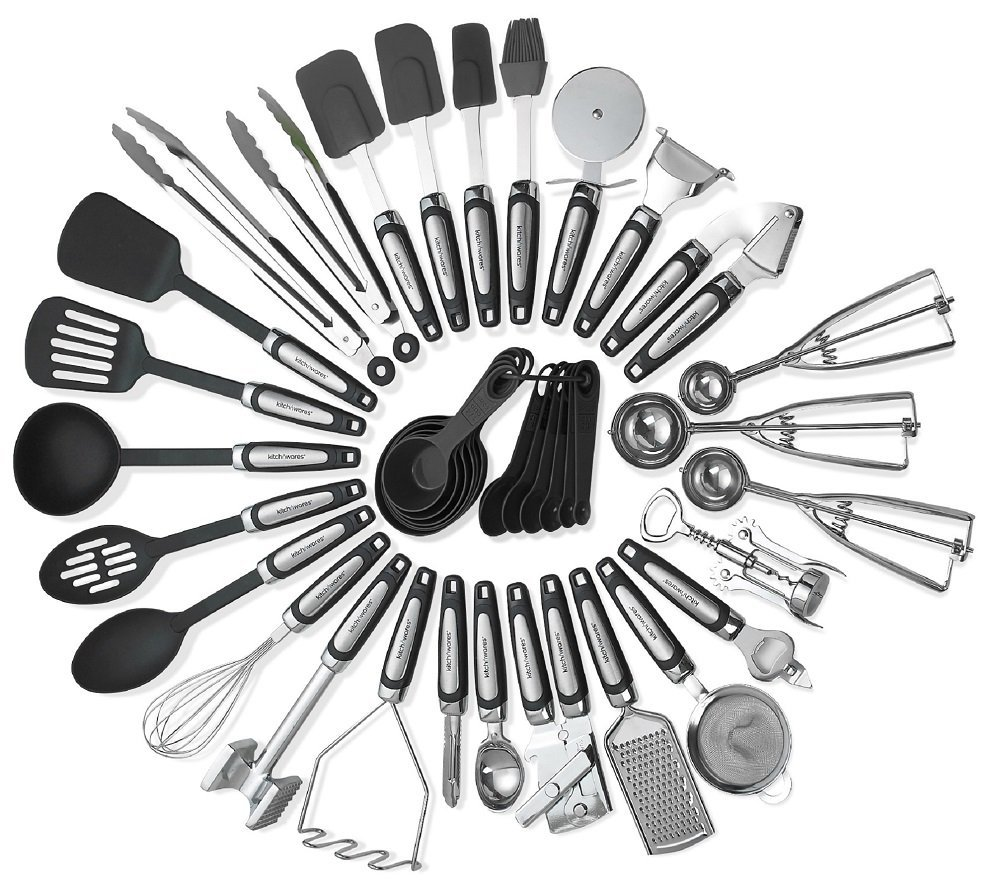Kitchen Utensils Sets 39 Pieces- Stainless Steel And Nylon