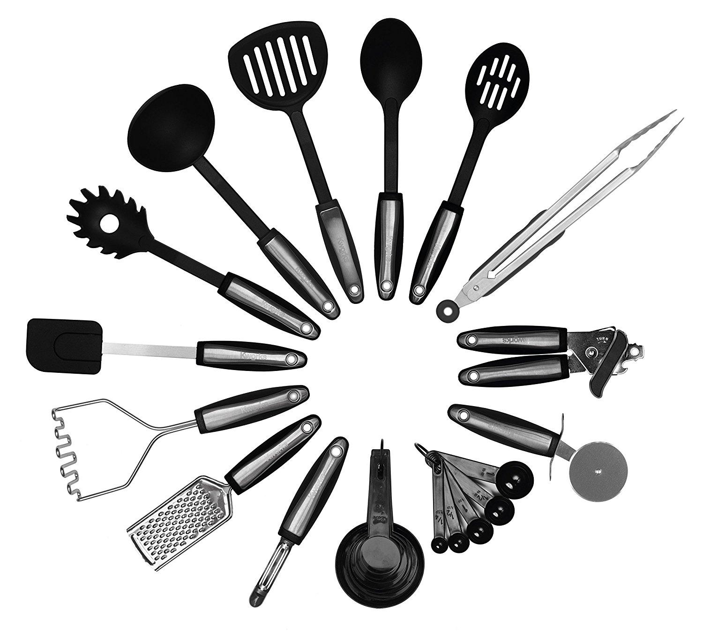 Kworks 22 Piece Kitchen Utensils Set Stainless Steel