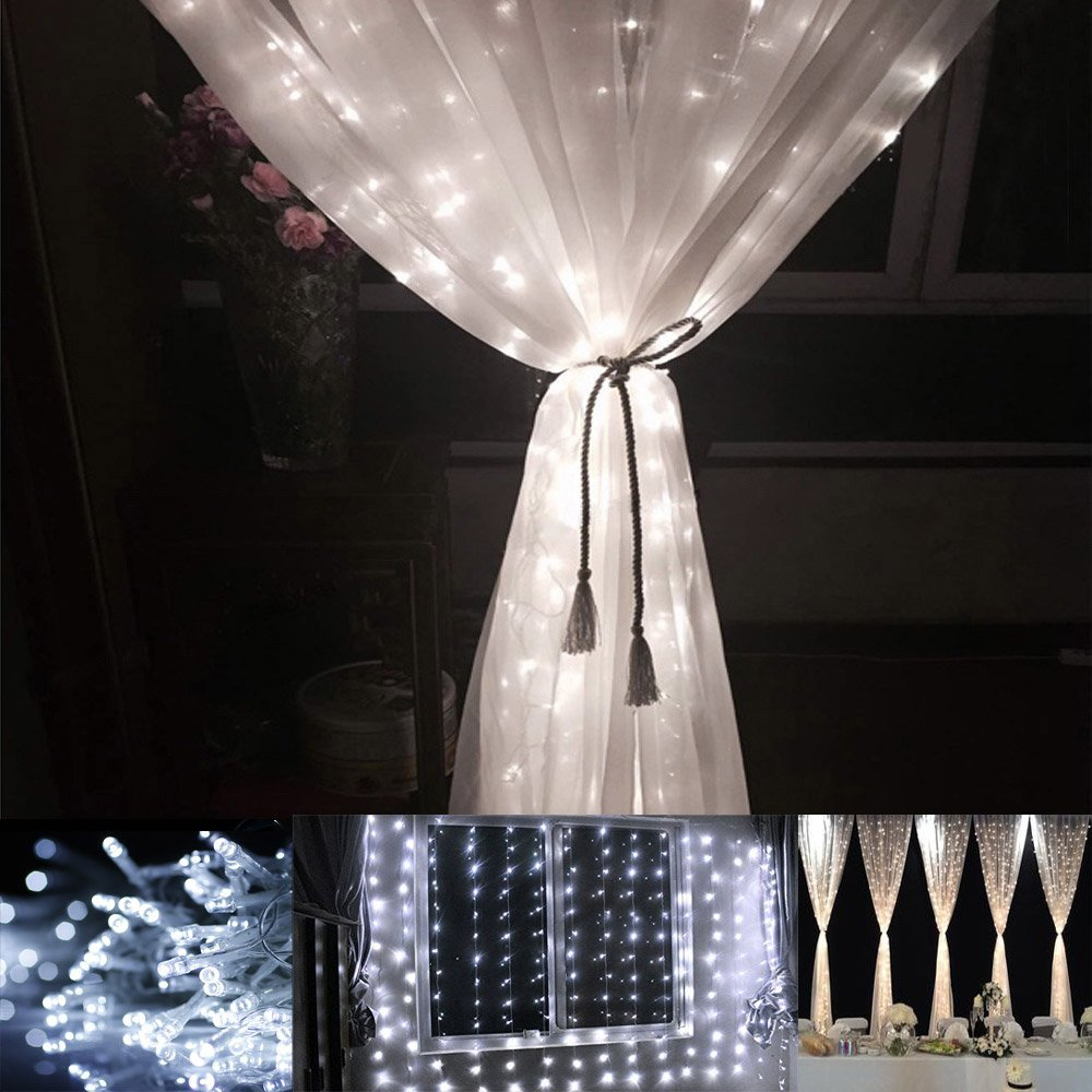 Le Led Window Curtain Icicle Lights 306 Led String Fairy