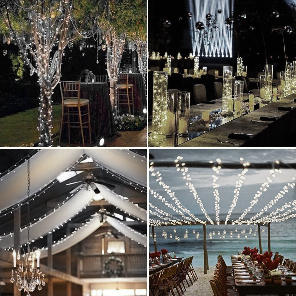 High Quality Multi Function Decorative Elegant Style Led: LED String Lights,TOPLIFE 33ft 100LED Dimmable Battery