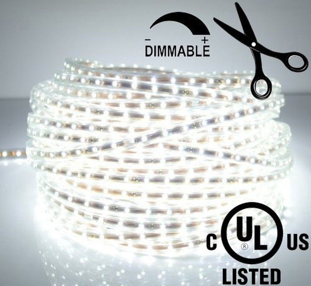 LEDJump Bright Pure White Dimmable Linkable 300SMD LED Tape Ribbon ...