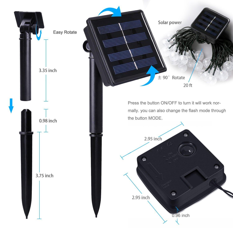 Outdoor Solar Power Decorative String Lights Anko 30 Led