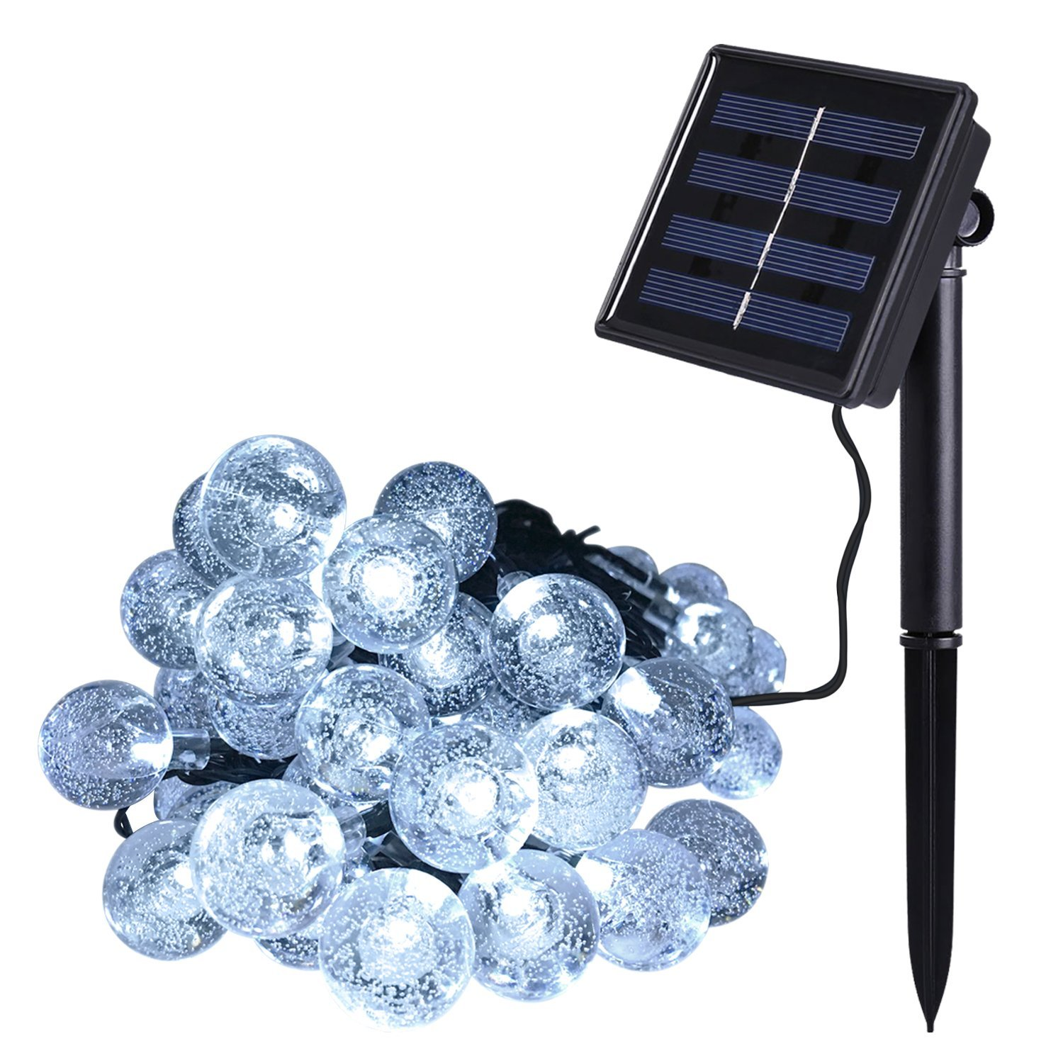 Outdoor solar power decorative string lights anko 30 led for Decorative patio lights