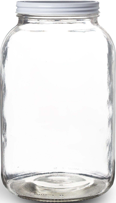 pakkon wide mouth glass mason jar with metal lid ferment. Black Bedroom Furniture Sets. Home Design Ideas