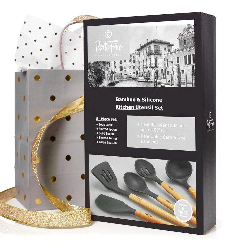 Portofino 5 Pc Eco Friendly Bamboo And Silicone Kitchen