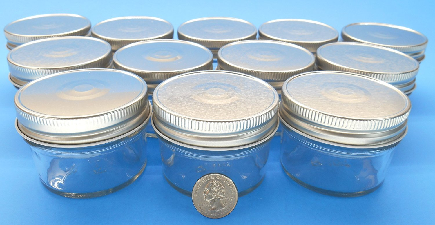 set of 12 4 oz mason jars with smooth sides easy to. Black Bedroom Furniture Sets. Home Design Ideas